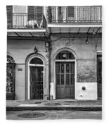 Historic Entrances Bw Fleece Blanket