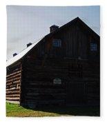 Historic Horse Barn Fleece Blanket