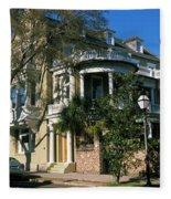 Historic Houses In A City, Charleston Fleece Blanket