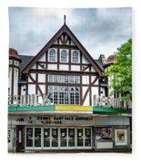 Historic Keswick Theater In Glenside Pa Fleece Blanket