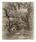 Historic Lane Antique Sepia Fleece Blanket