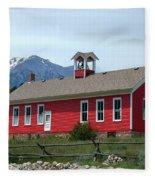 Historic Maysville School In Colorado Fleece Blanket