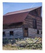 Historic More Barn Fleece Blanket