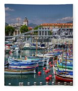 Historic Port Of Nice, France Fleece Blanket