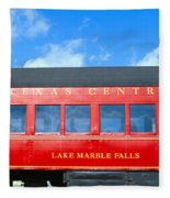 Historic Red Passenger Car, Austin & Fleece Blanket