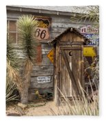 Historic Route 66 - Outhouse 2 Fleece Blanket