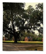 Historic Slave Houses At Boone Hall Plantation In Sc Fleece Blanket