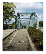Historic South Washington St. Bridge Binghamton Ny Fleece Blanket