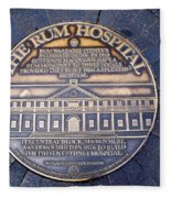 Historic Sydney Hospital - Plaque On Sidewalk Fleece Blanket