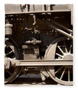 Historic Trains Fleece Blanket
