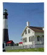 Historic Tybee Island Lighthouse II Fleece Blanket