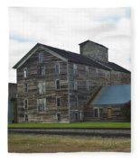 Historical Barron Wheat Flour Mill In Oakesdale Wa Fleece Blanket