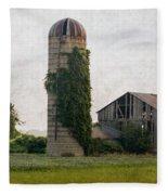 Historical Farm Scene Fleece Blanket