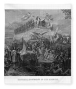 Historical Monument Of Our Country Fleece Blanket
