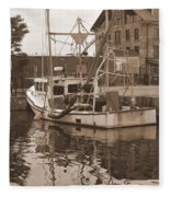 Historical Waterfront  Fleece Blanket