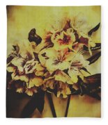 History In Bloom Fleece Blanket
