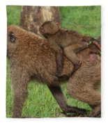 Hitching A Ride Fleece Blanket