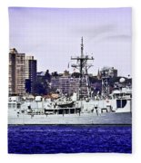 Hmas Darwin Ffg 04 Fleece Blanket