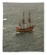 Hmb Endevour Enters Sydney Harbour Fleece Blanket