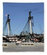Hms Victory Portsmouth Fleece Blanket