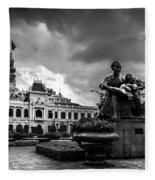 Ho Chi Minh City Hall Fleece Blanket