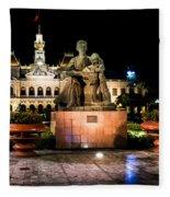 Ho Chi Minh City Hall At Night Fleece Blanket