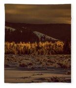 Hoar Frost In Dawn's Light Fleece Blanket