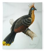 Hoatzin Fleece Blanket