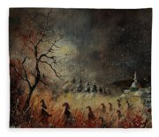 Hobglobins At Night Fleece Blanket
