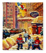 Hockey Fever Hits Montreal Bigtime Fleece Blanket