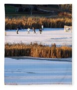 Hockey Game Fleece Blanket