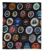 Hockey Pucks Fleece Blanket