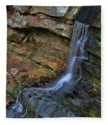 Hocking Hills State Park Small Waterfall Fleece Blanket