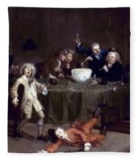 Hogarth: Midnight, 1731 Fleece Blanket