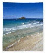 Hokuula Beach Fleece Blanket