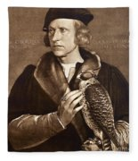 Holbein: Falconer, 1533 Fleece Blanket