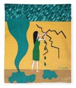 Holding Back The Flood Fleece Blanket