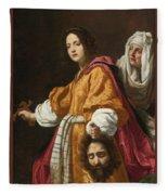 Holding The Head Of Holofernes Fleece Blanket
