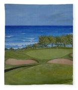 Hole 17 - Wailua Golf Course On Kauai Fleece Blanket