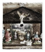 Holiday Christmas Manger Pa 01 Fleece Blanket