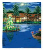 Holiday Delivery At Whisper Lake  Fleece Blanket