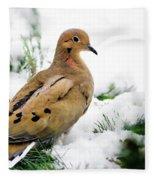 Holiday Dove Fleece Blanket