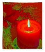 Holiday Greeting Card Cartoon Fleece Blanket