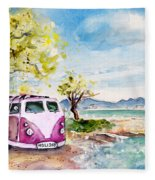 Holiday In Cala Ratjada Fleece Blanket