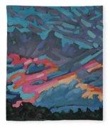 Holiday July Sunrise Fleece Blanket