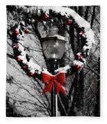 Holiday Lamp Post Fleece Blanket