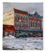 Holiday Shopping In Tonawanda Fleece Blanket