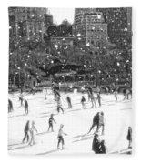 Holiday Skaters Fleece Blanket