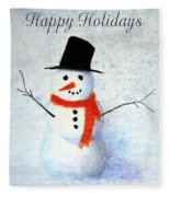 Holiday Snowman Fleece Blanket