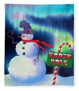 Holiday Top Hat Fleece Blanket